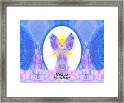 Framed Print featuring the digital art 444 Angel Crystals by Barbara Tristan