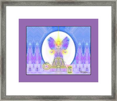 Framed Print featuring the digital art 444 Justice #197 by Barbara Tristan