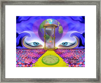 Framed Print featuring the digital art 444 Pathway by Barbara Tristan