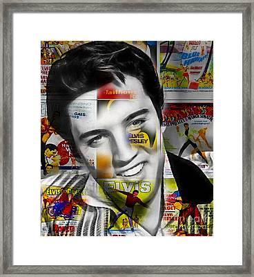 Elvis Presley Collection Framed Print by Marvin Blaine