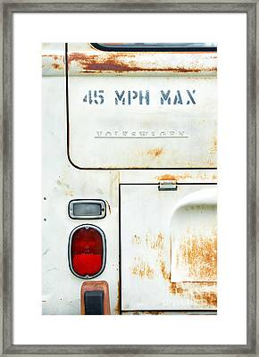 45 Mph Max Framed Print by Tim Gainey