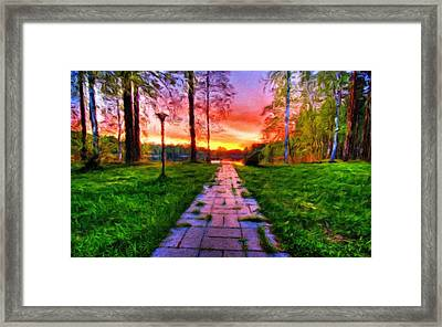 R G Landscape Framed Print