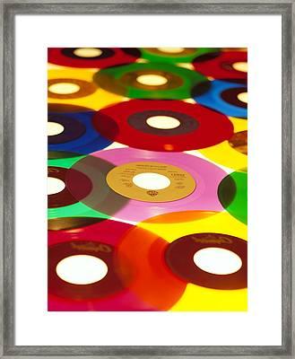45 Rpm Framed Print by Robert Ponzoni