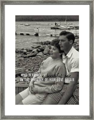 45 Years Quote Framed Print by JAMART Photography