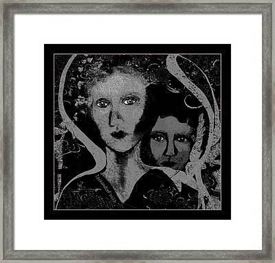 Framed Print featuring the digital art 450 - Get Off My Back 2017 by Irmgard Schoendorf Welch