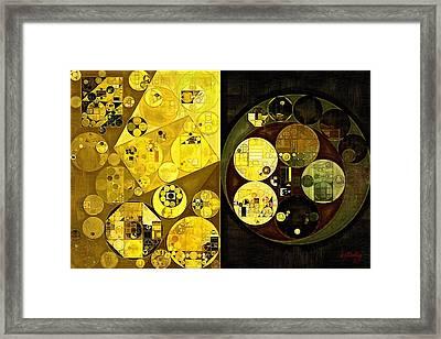 Abstract Painting - Onyx Framed Print by Vitaliy Gladkiy