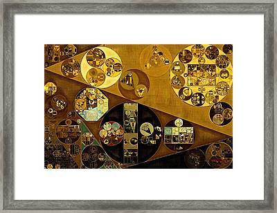 Abstract Painting - Zinnwaldite Brown Framed Print by Vitaliy Gladkiy