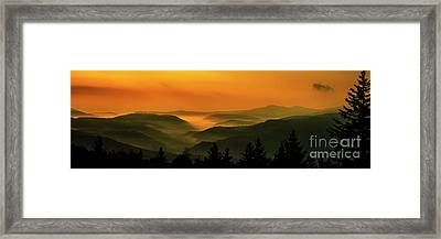 Framed Print featuring the photograph Allegheny Mountain Sunrise by Thomas R Fletcher