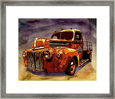 46 Ford Flatbed Redux From The Laboratories At Vivachas Framed Print