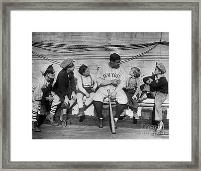 George H. Ruth (1895-1948) Framed Print by Granger