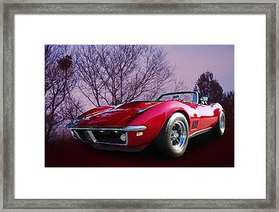 468 Vette Framed Print by Bill Dutting