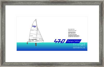 470 Olympic Sailing Framed Print