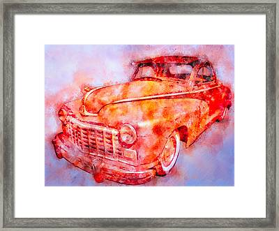 48 Dodge 3 Window Business Coupe Framed Print