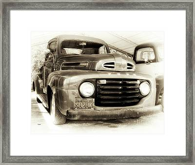 48 Ford  Framed Print by Steven Digman