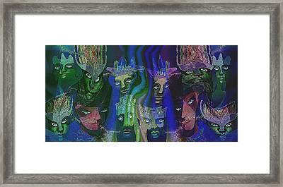 484  Feline  People  B Framed Print