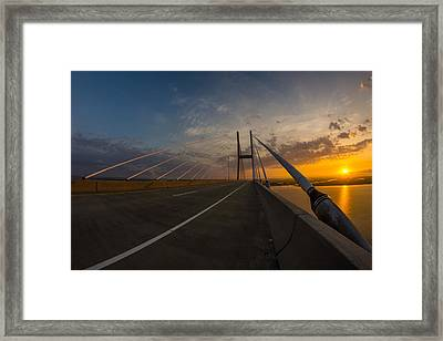 486 Feet Sunrise Framed Print by Chris Bordeleau