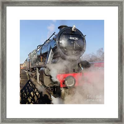 48624 Steam Locomotive Framed Print by Steev Stamford