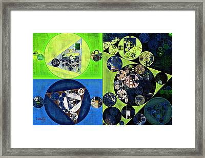 Framed Print featuring the digital art Abstract Painting - Dark Jungle Green by Vitaliy Gladkiy