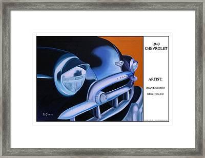 49 Chevy Poster Framed Print