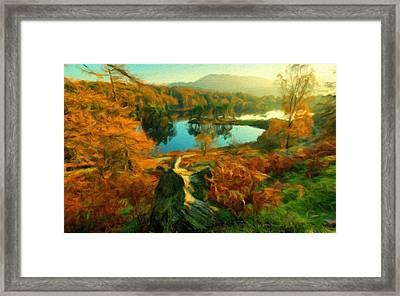 Plan E Landscape Framed Print