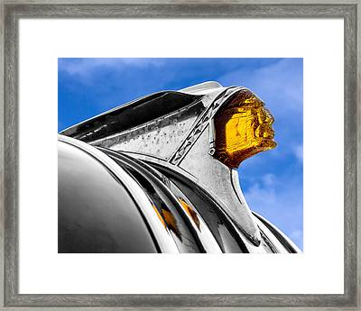 49 Pontiac Hood Ornament Framed Print by Jim Hughes