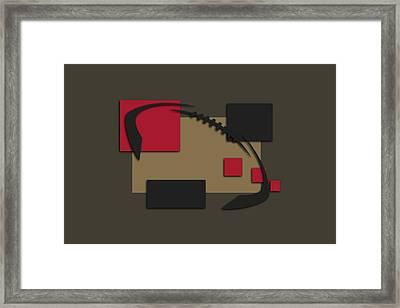 49ers Abstract Shirt Framed Print by Joe Hamilton