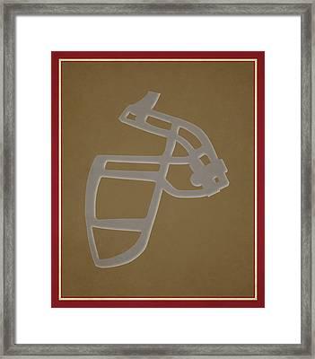 49ers Face Mask Framed Print by Joe Hamilton