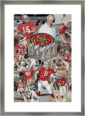 49ers Tribute Framed Print by Joshua Jacobs