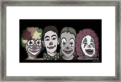 4happy Clowns 80 Framed Print by Megan Dirsa-DuBois