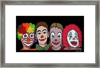 4happy Clowns Framed Print by Megan Dirsa-DuBois