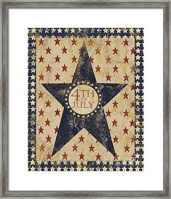 4th Of July Americana Framed Print