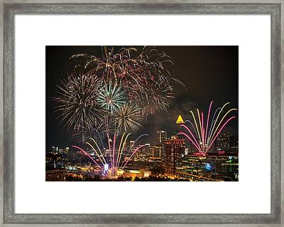 Framed Print featuring the photograph 4th Of July by Anna Rumiantseva