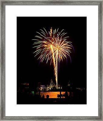 Framed Print featuring the photograph 4th Of July Fireworks by Bill Barber