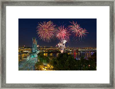 4th Of July Fireworks Framed Print by David Gn