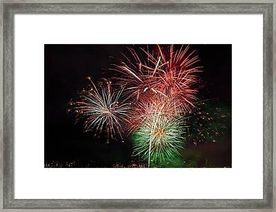 4th Of July Fireworks Display Portland Oregon Framed Print by David Gn