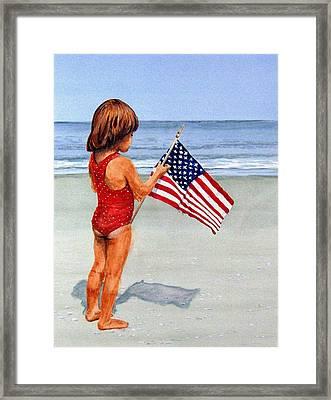 4th Of July Framed Print by Haldy Gifford