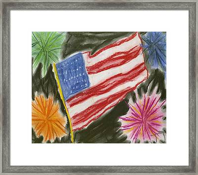 4th Of July Framed Print by Jessika and Art with a Heart In Healthcare