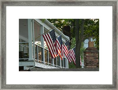 4th Of July Porch Framed Print
