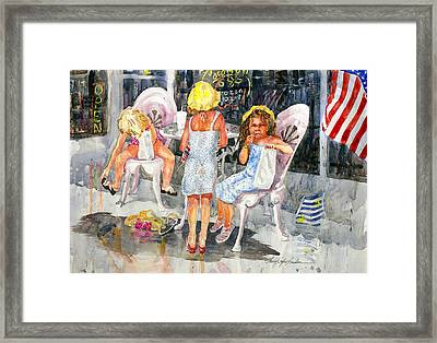 4th Of July Framed Print by Shirley Sykes Bracken