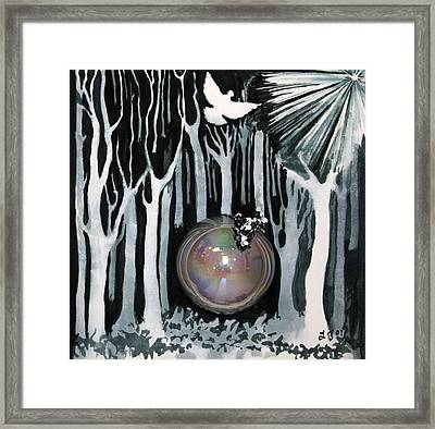 4th Step Framed Print by Lucinda Blackstone