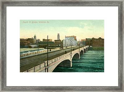 4th Street Bridge Waterloo Iowa Framed Print by Greg Joens