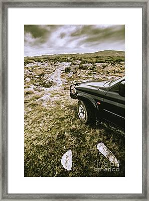 4x4 Tour Tasmania Framed Print