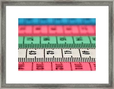 Measuring Tape Framed Print by Boyan Dimitrov