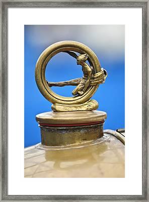 1912 Gobron-brillie 12 Cv Skiff Hood Ornament Framed Print by Jill Reger