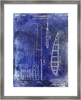 1925 Airplane Wing Patent Framed Print by Jon Neidert