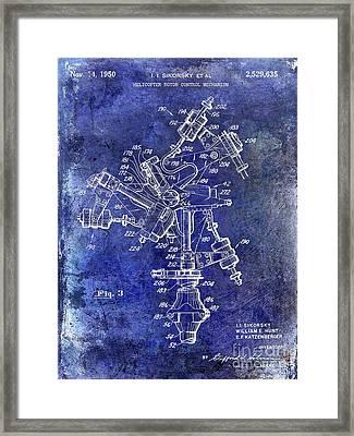 1950 Helicopter Patent Framed Print by Jon Neidert