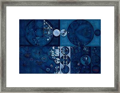 Abstract Painting - Dark Pastel Blue Framed Print