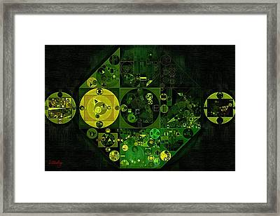 Abstract Painting - Lincoln Green Framed Print
