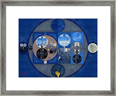 Abstract Painting - Sapphire Framed Print by Vitaliy Gladkiy