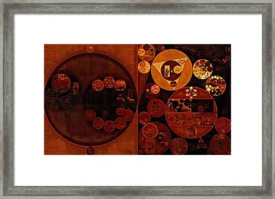 Abstract Painting - Smoky Black Framed Print
